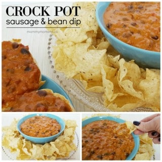 EASY CROCK POT SAUSAGE BEAN DIP
