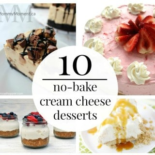 10 NO BAKE CREAM CHEESE DESSERTS