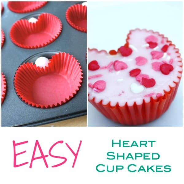 easy heart shaped cupcakes