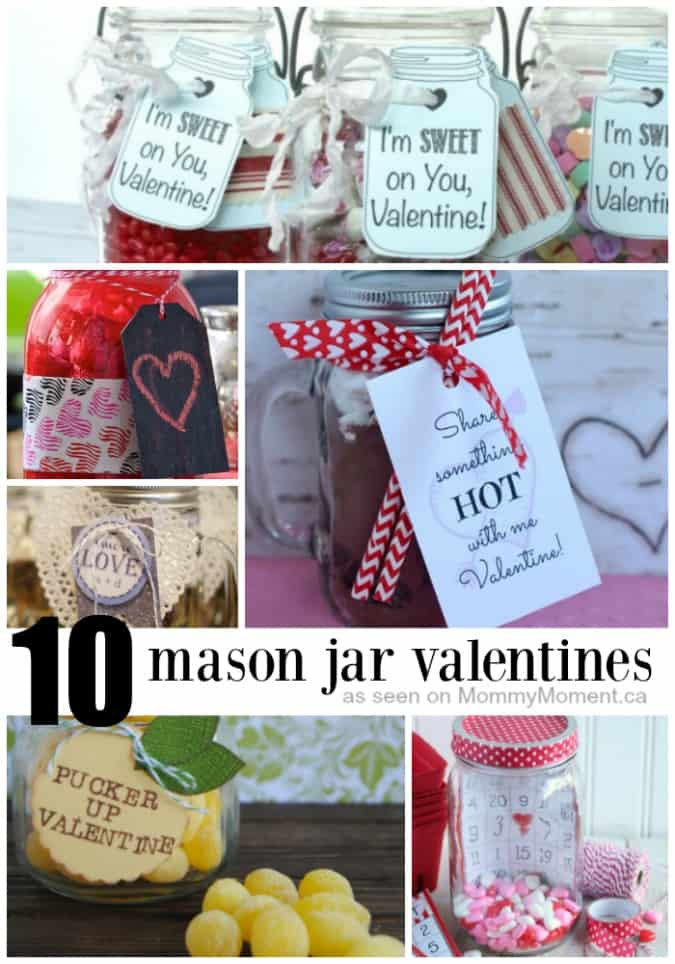 Lemon Drop Valentine Mason Jar Gift