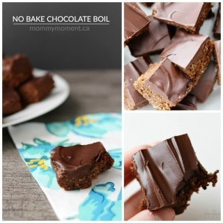 NO BAKE CHOCOLATE BOIL SQUARES
