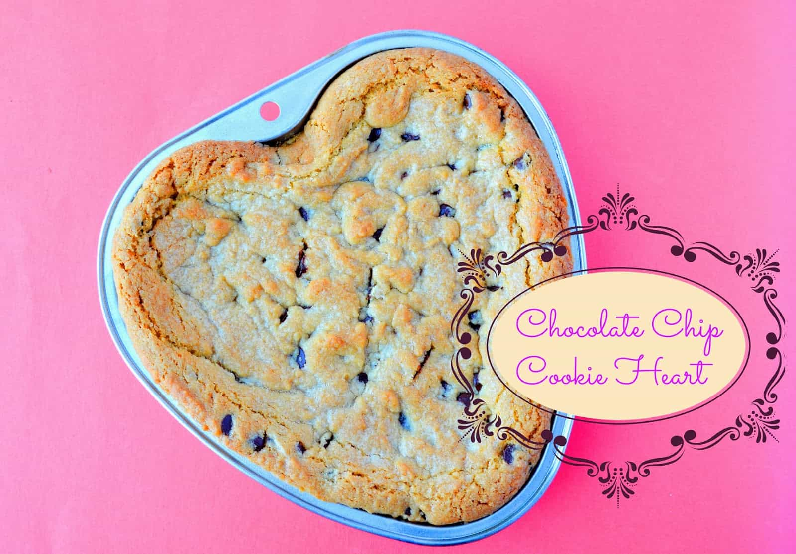 vegan chocolate chip cookie heart