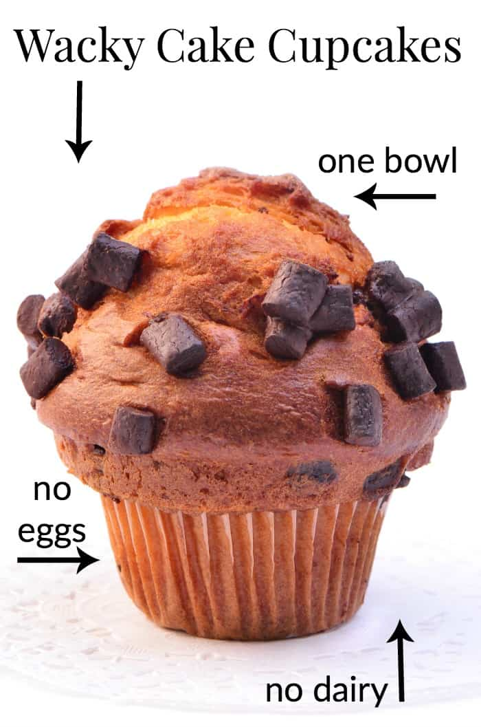 easy wacky cake cupcakes made from scratch