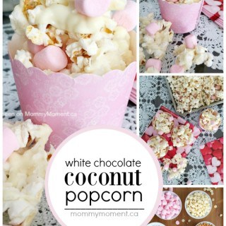 WHITE CHOCOLATE COCONUT POPCORN