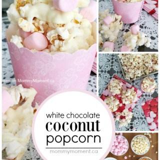 WHITE CHOCOLATE COCONUT POPCORN