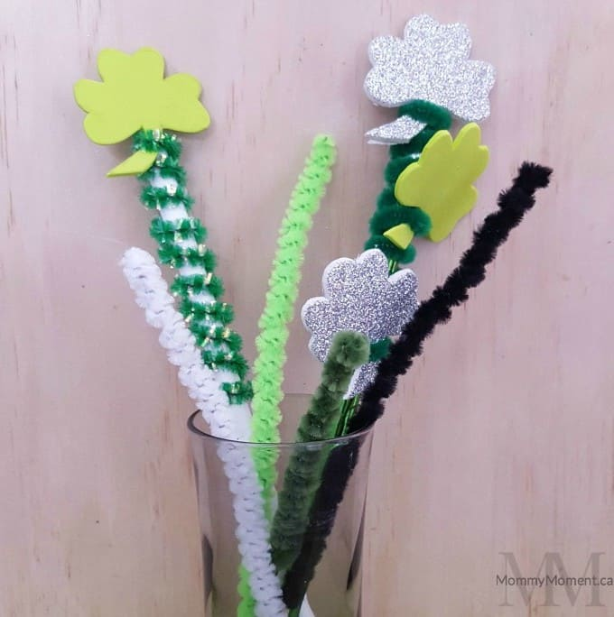 2 Shamrock Pencil Toppers finished