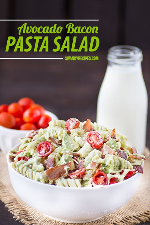 Avocado-Bacon-Pasta-Salad