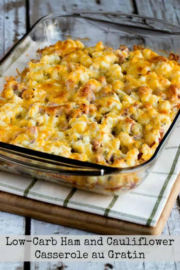 13) Ham and Cauliflower Casserole au Gratin