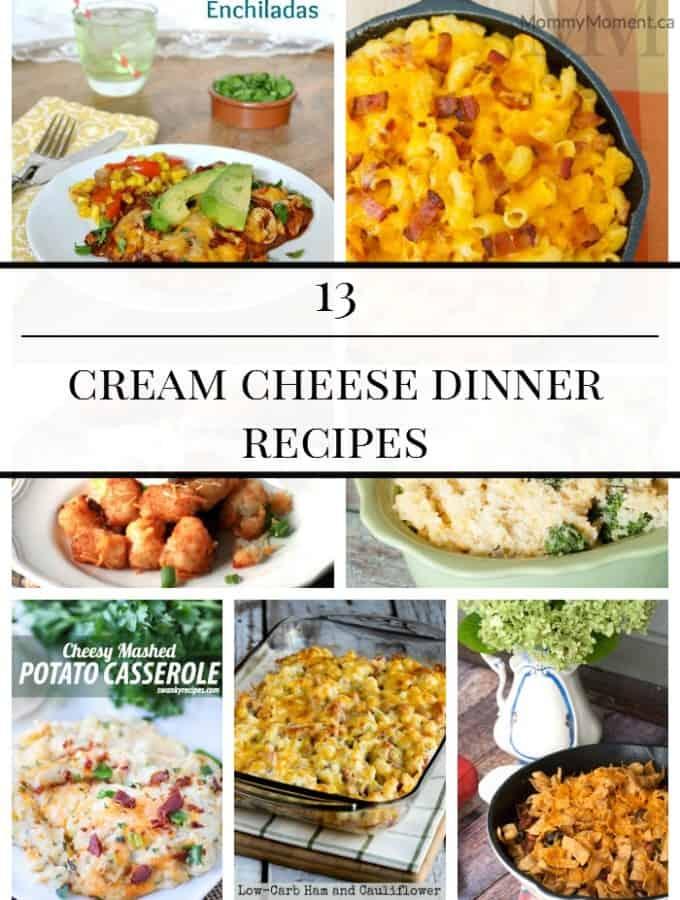 cream cheese dinner recipes