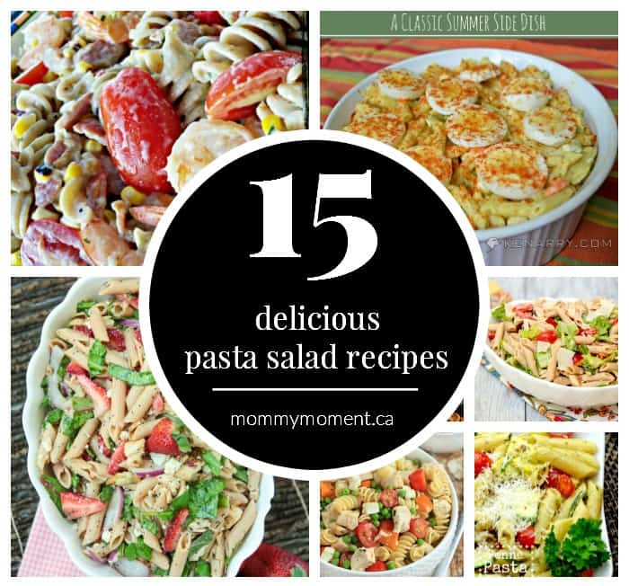 Using your favorite pasta you can quickly put together one of the 15 delicious pasta salad recipes to add to any meal!