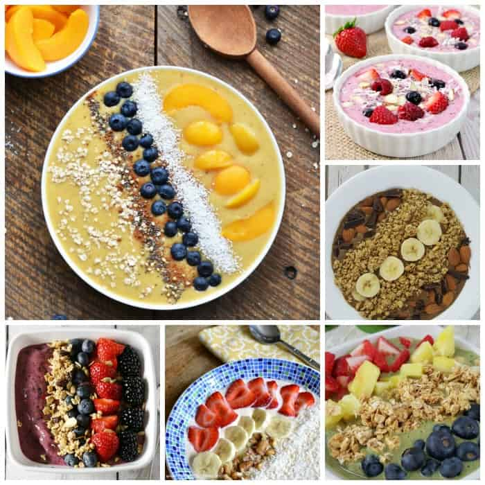 delicious smoothie bowl recipes that you will want to make every morning for breakfast. Eating a hearty smoothie bowl with spoon is so satisfying!