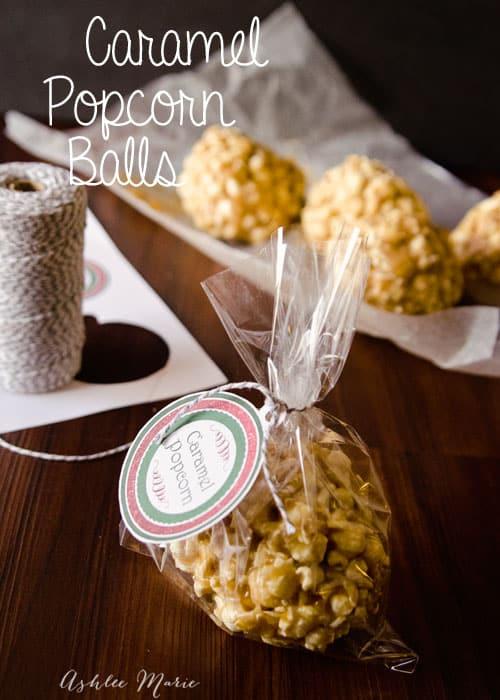 Caramel Dessert Popcorn Balls