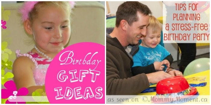 Birthday party gift ideas and planning tips