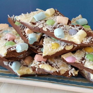 SPRINGTIME CHOCOLATE CANDY BARK