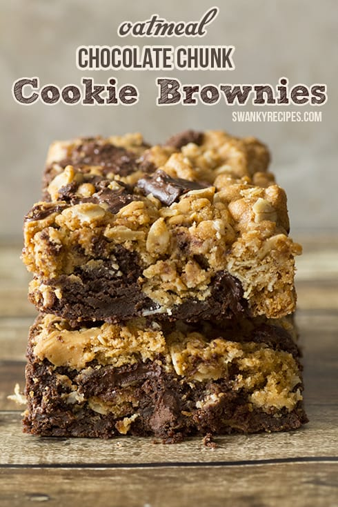 Oatmeal Chocolate Chunk Cookie Brownies Recipe