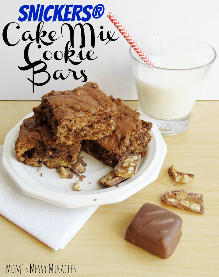 Snickers-Cake-Mix-Cookie-Bars-and-milk1