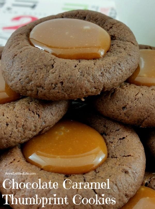 chocolate-caramel-thumbprint-cookies