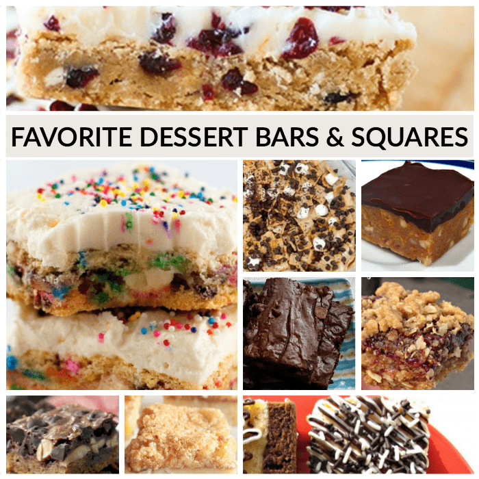 Delcious Dessert Bars and squares