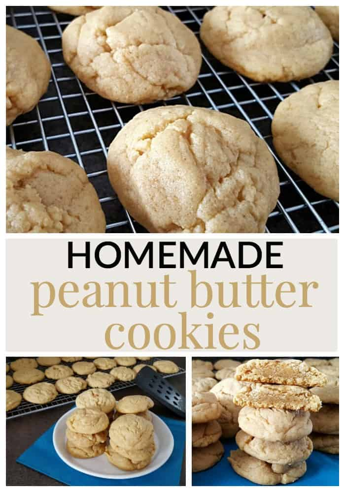 homemade peanut butter cookie recipe gives a cookie that lightly crisp ...