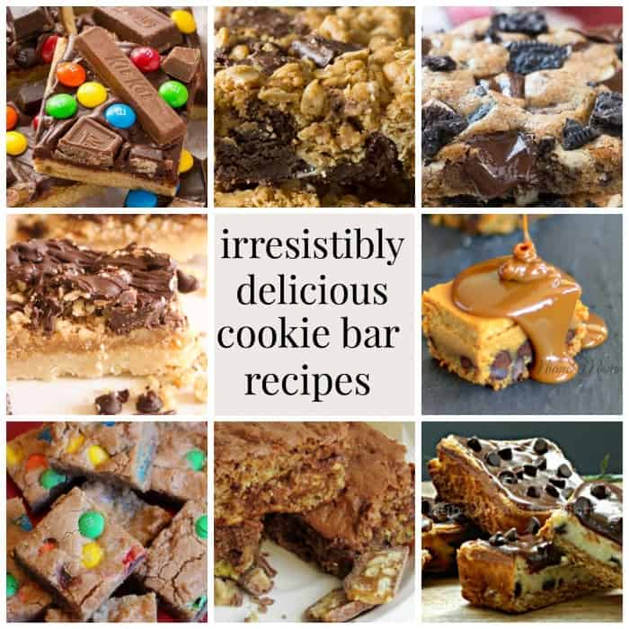 irresistibly delicious cookie bar recipes on Mommymoment.ca.