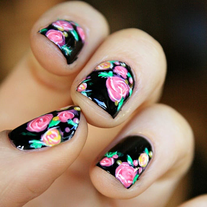 Black just seems so dark, scary and overpowering so I've avoided it. - ROSE NAIL ART DESIGN - Mommy Moment