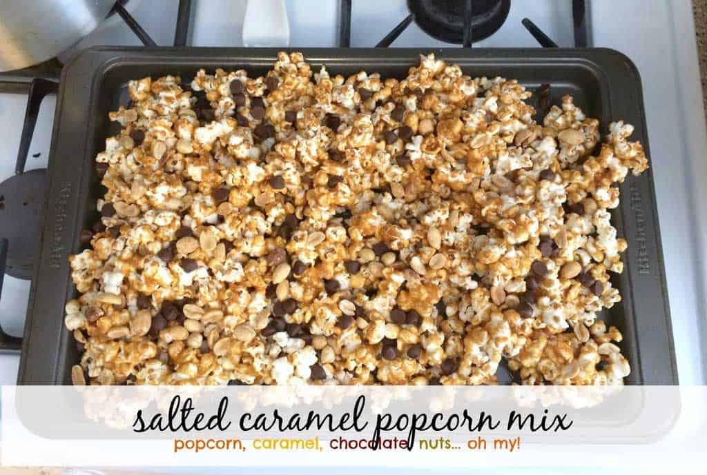 salted caramel popcorn mix