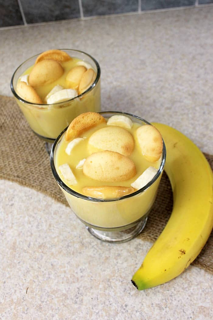 This CREAMY BANANA PUDDING DESSERT is very easy to make and the addition of the orange oil gives it a little something unexpected