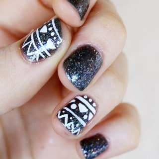 TRIBAL INSPIRED NAIL ART DESIGN