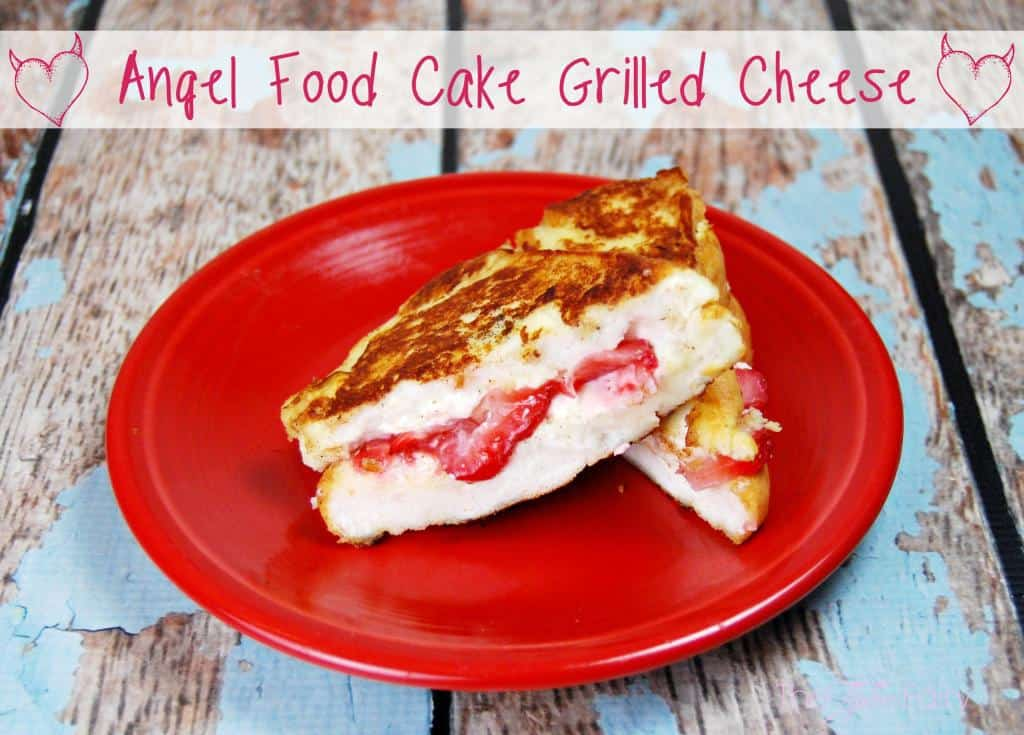 angel food cake sweet grilled cheese