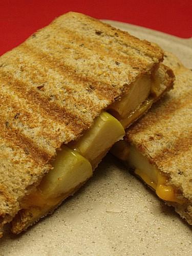 apple panini sweet grilled cheese