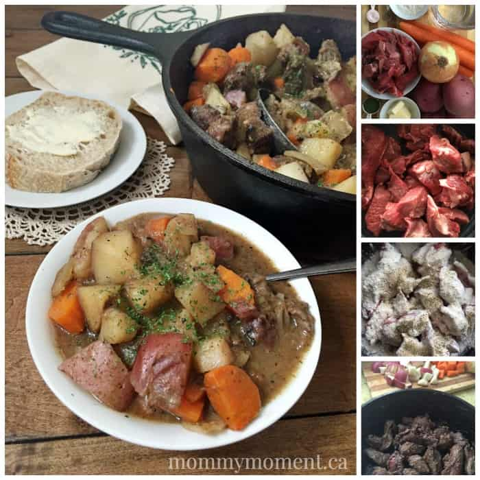 mommymoment.ca beef stew recipe collage