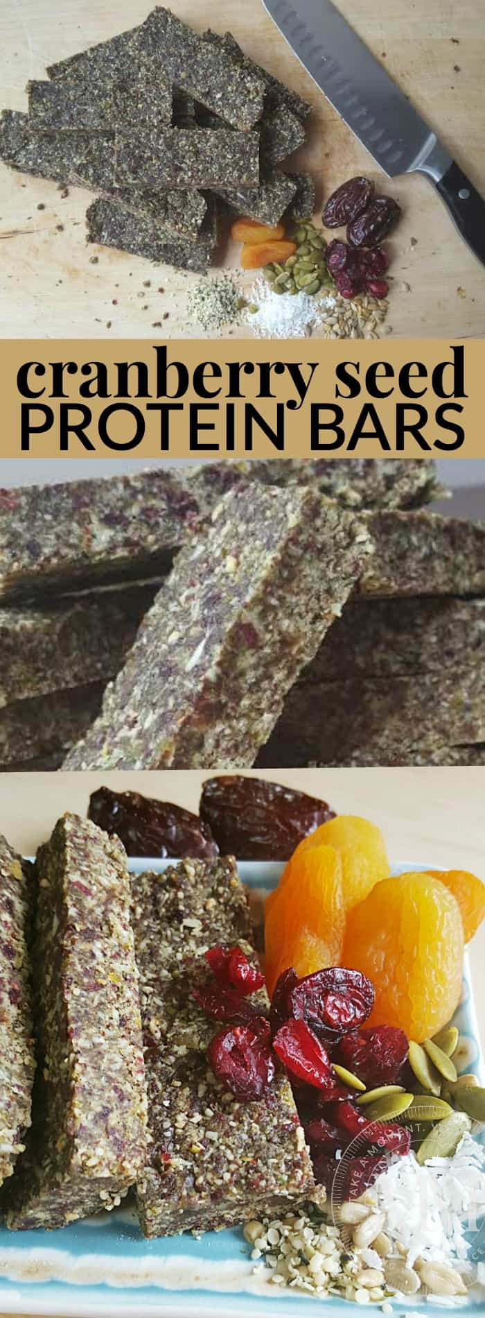 cranberry seed protein bars