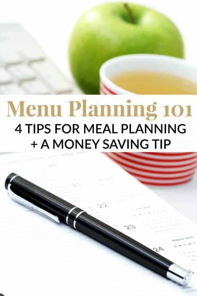 Do you menu plan your family meals? Is it easy for you? Here are 4 tips for Meal Planning and a tip to save you money at the grocery store each week!