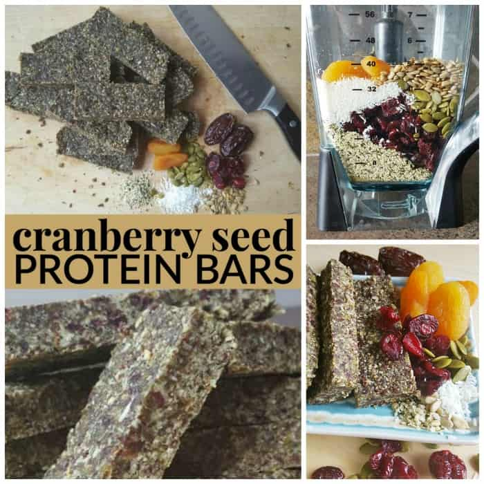 homemade cranberry seed protein bars