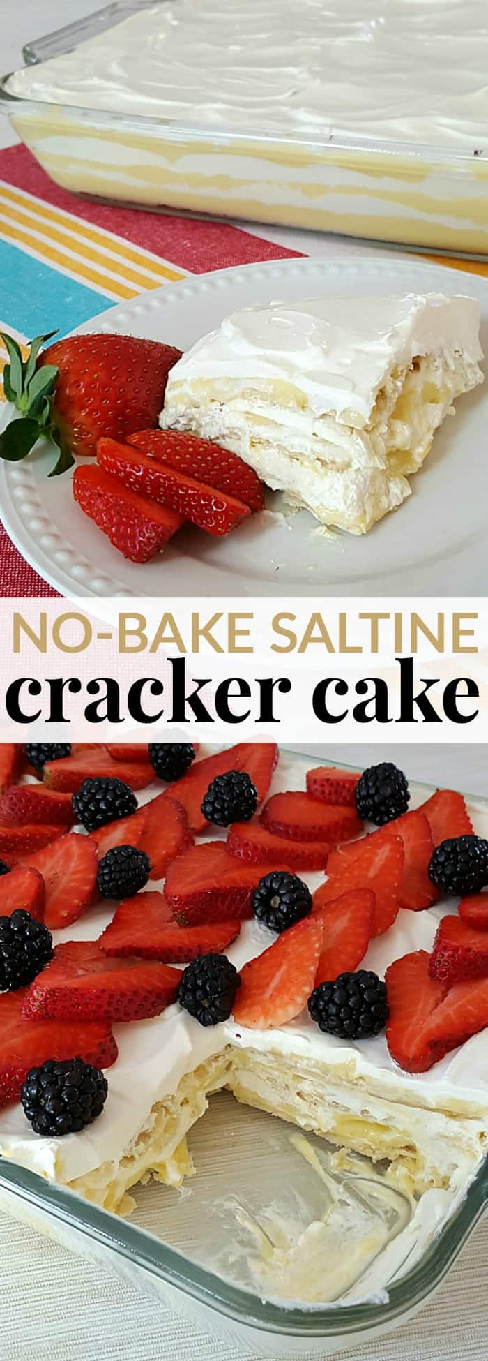 Delicious and easy no bake saltine cracker cake - also known as crack cake!