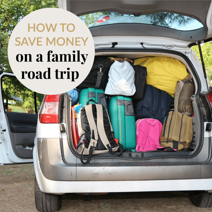 save money on a family road trip