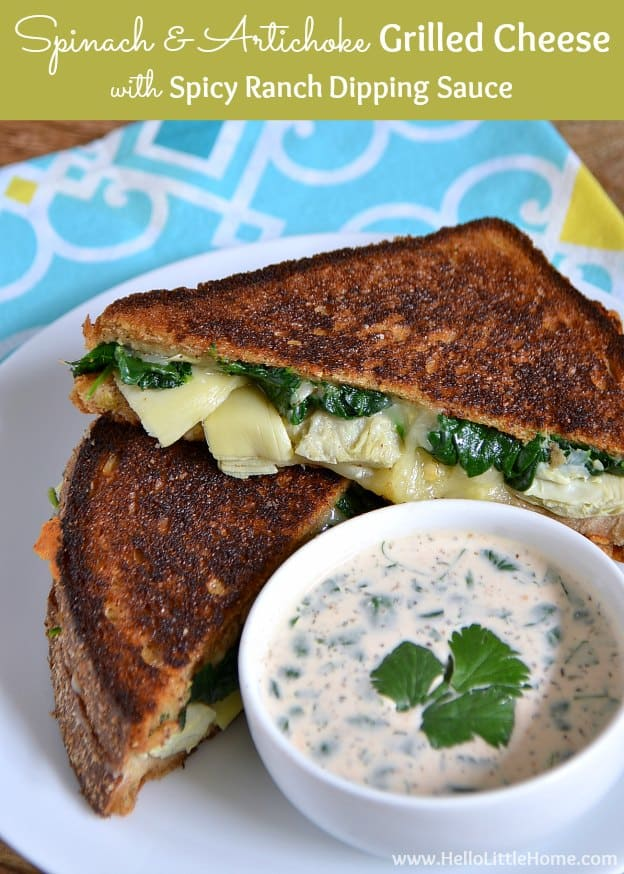 spinach-and-artichoke-grilled-cheese-spicy-ranch-dipping-sauce-2