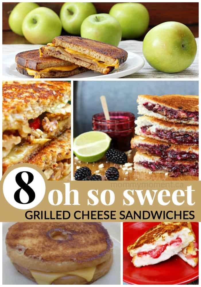 sweet grilled cheese sandwich