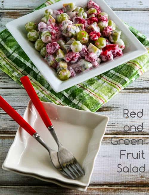red and green fruit salad