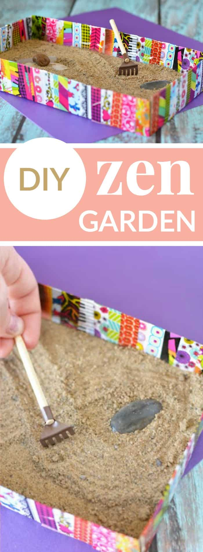 DIY ZEN GARDEN HELPS ADULTS AND KIDS RELAX Mommy Moment
