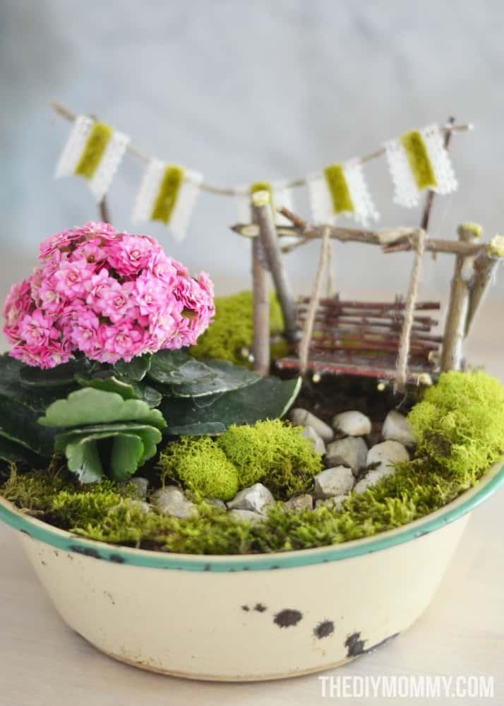 make a mini fairy garden