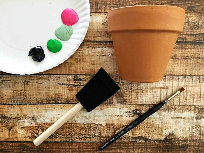 Diy hand painted watermelon flower pot mommy moment for Pot painting materials required
