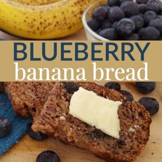 Gluten free blueberry banana bread recipe