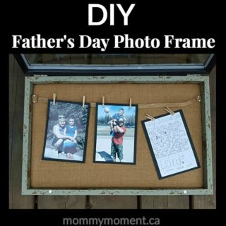 DIY Father's Day Photo Frame Gift Idea