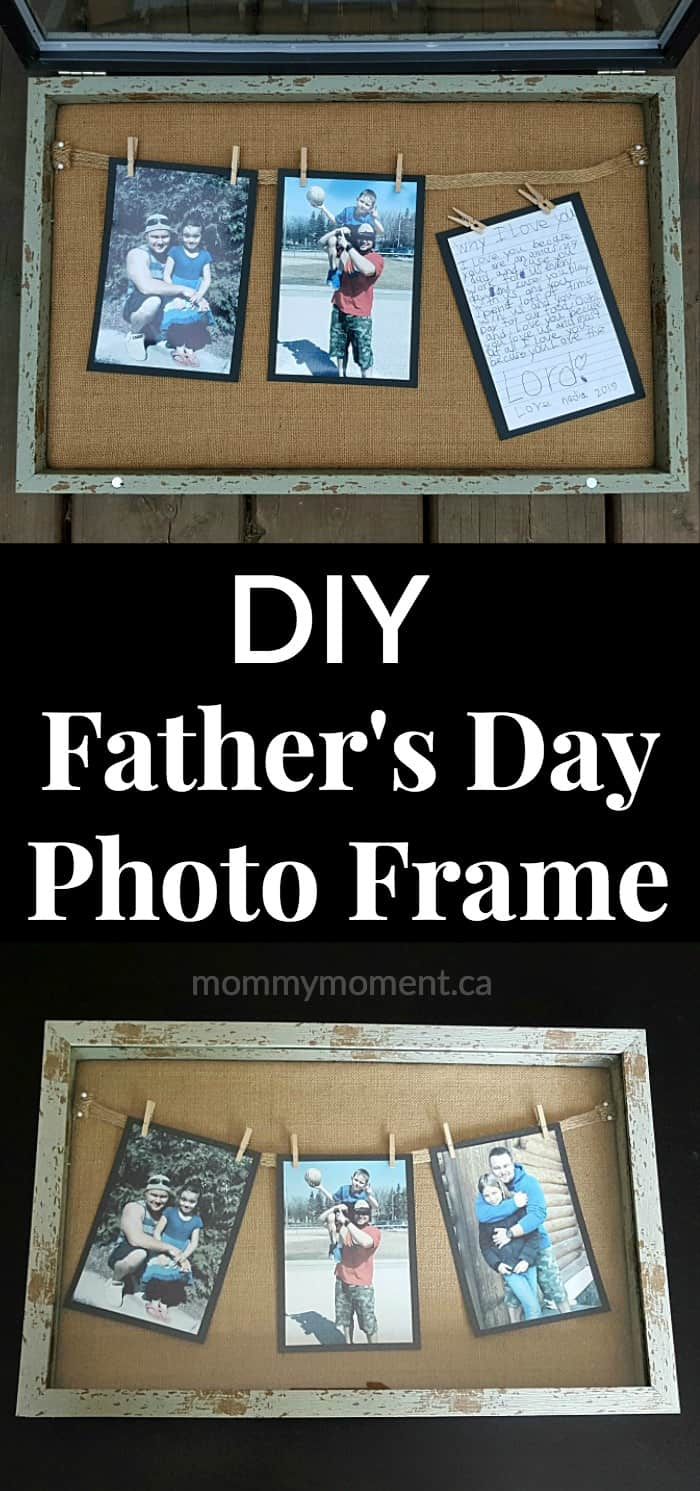 DIY Father's Day Photo Frame - Such a cute keepsake idea for dad.