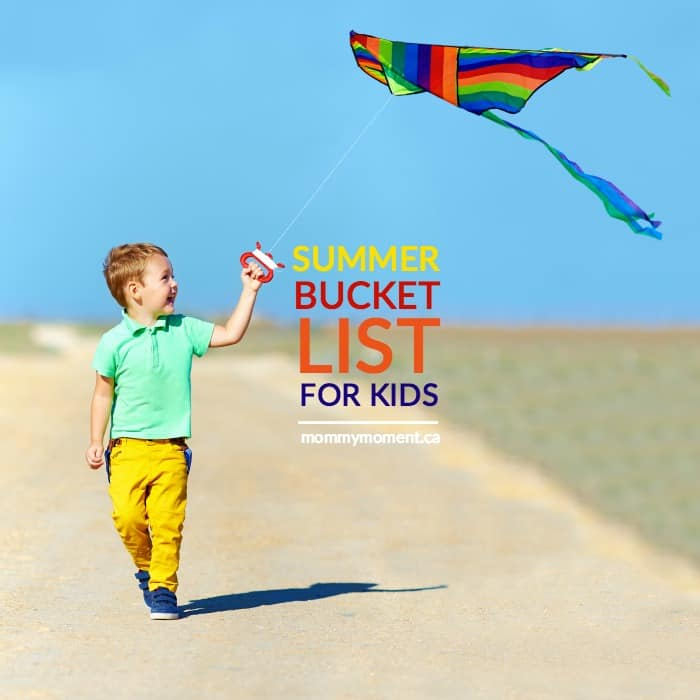kids summer bucket list with 50 things to do and a free blank sheet too!