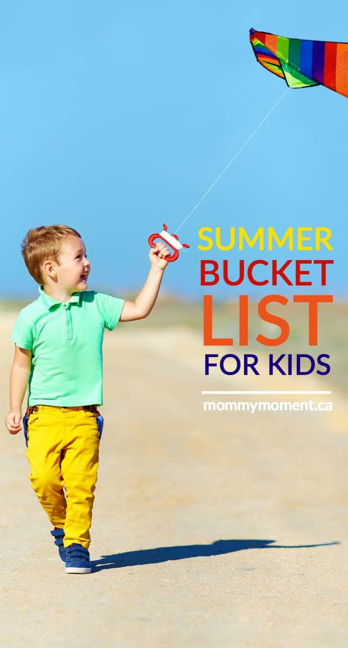 summer bucket list for kids free printable