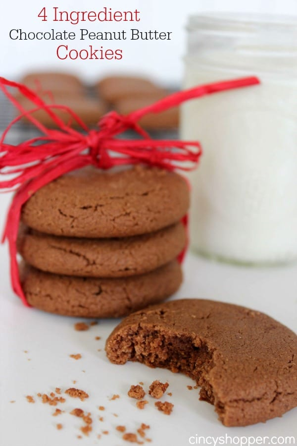 4-Ingredient-Chocolate-Peanut-Butter-Cookies-Recipe
