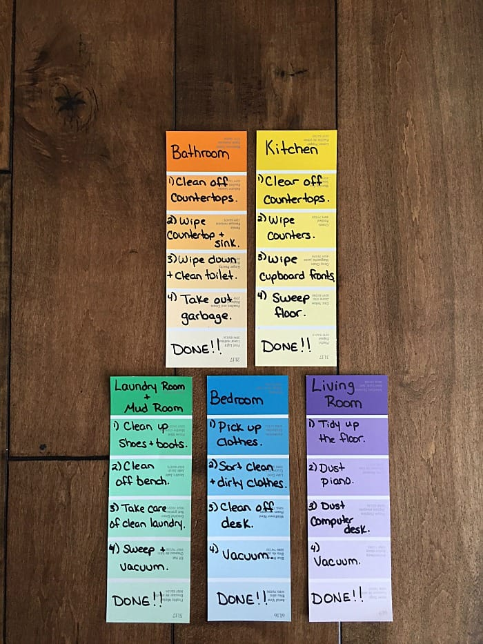 Chore Chart Paint Chips
