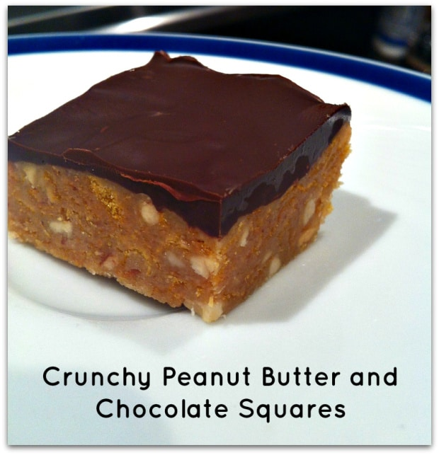 NO BAKE PEANUT BUTTER AND CHOCOLATE SQUARES – From Merry ...